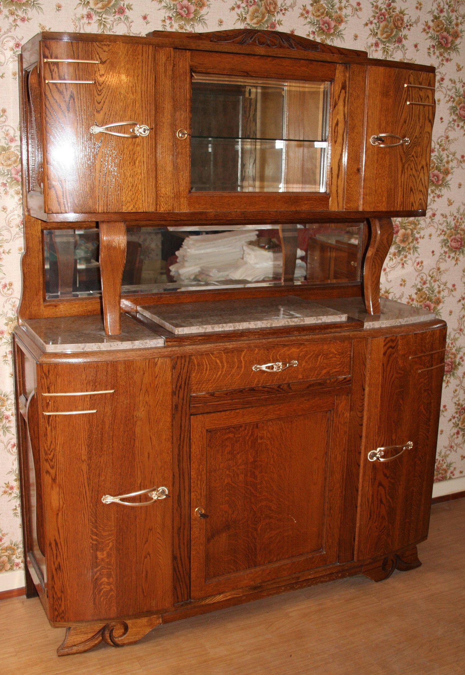 Vente de meubles Buffet vitrine en bois massif – 09