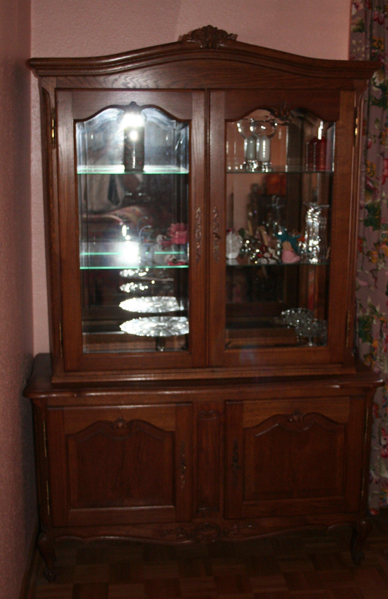 Vente de meubles vitrine en bois massif 12 - Model vitrine en bois ...